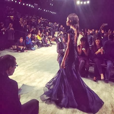 Oluchi closes for David Tlale at New York Fashion Week