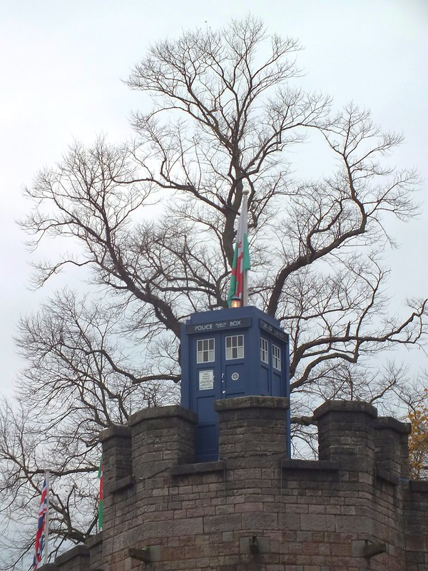 Dr Who Tardis on Cardiff Castle