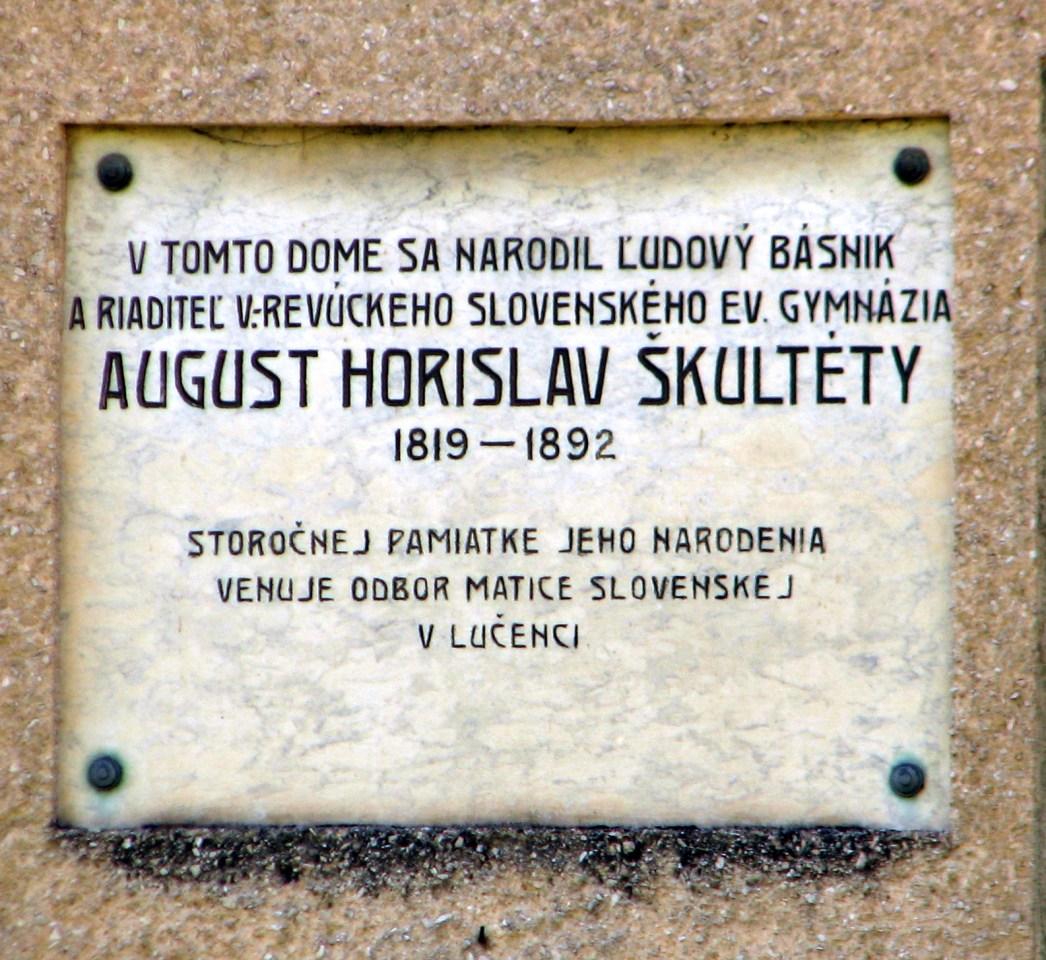 Pamätná tabuľa A.H. Škultétymu