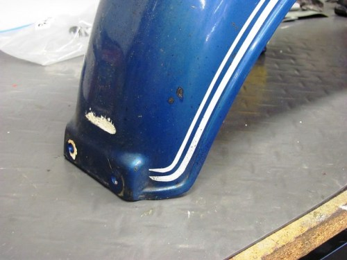 Rear Fender Gouge & Pinstripe Detail