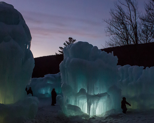 Loon Mtn Ice Castle at Dusk by Christopher OKeefe
