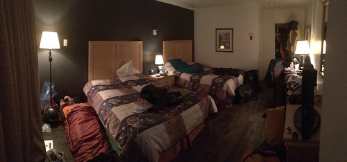 Bedtime at hotel