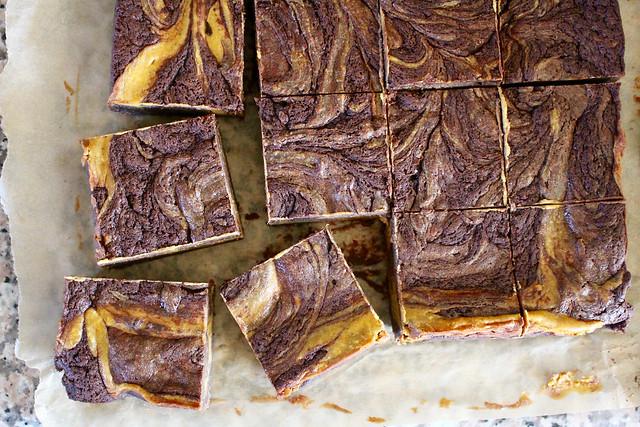 Pumpkin Swirl Cheesecake Brownies - 31