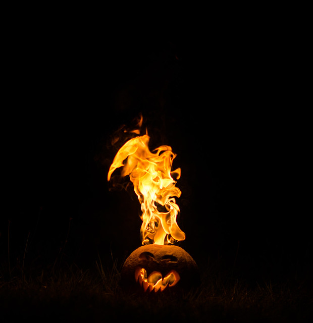 Flaming Pumpkin
