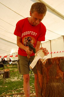 Spoon carving at Spoonfest 2013