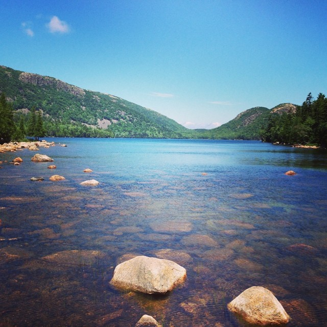 Hiking at Jordan Pond. #latergram #acadianationalpark #maine