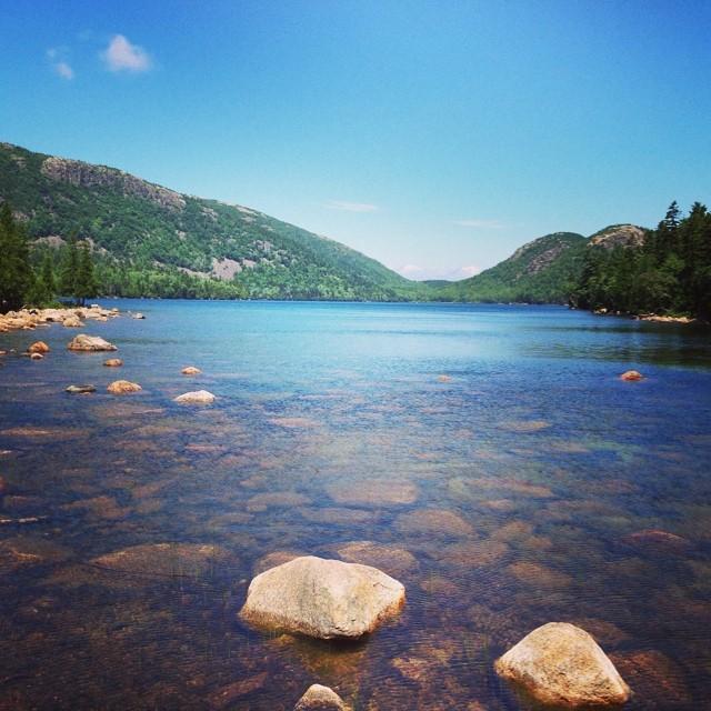 Hiking at Jordan Pond. #latergram #acadianationalpark #maine