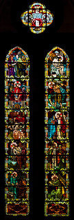 Notre Dame De La Treille, Lille, France.  Stained glass.