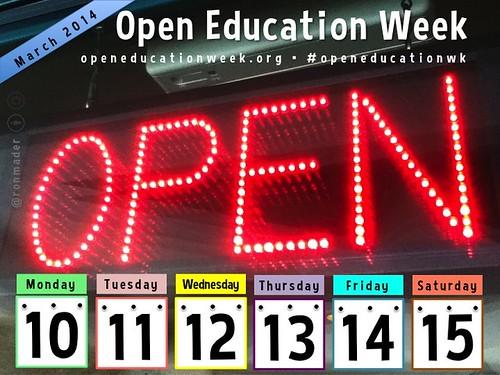 Open Education Week, March 10-15 @openeducationwk #oer #openeducationwk
