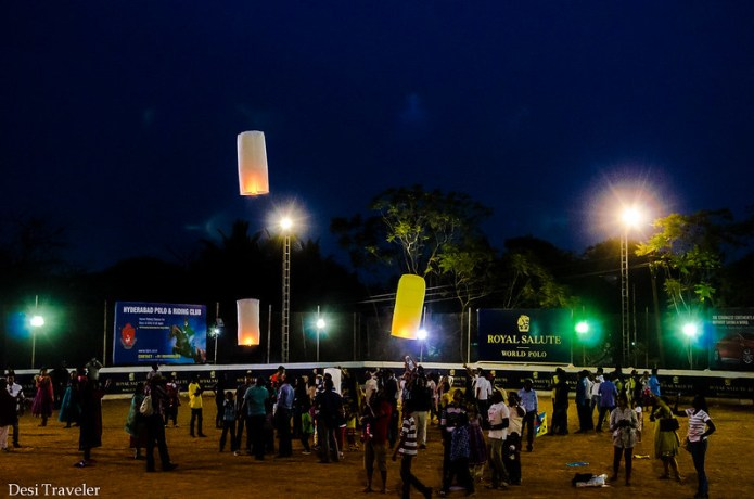 flying sky lanterns locally called Fanush