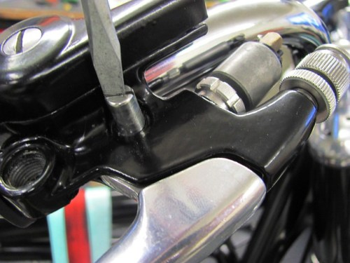 Tightening Brake Lever Pivot Bolt