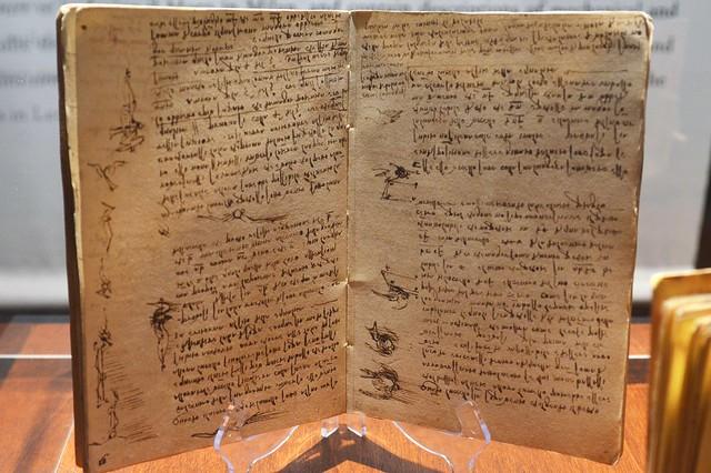Replica of Da Vinci's Notebook