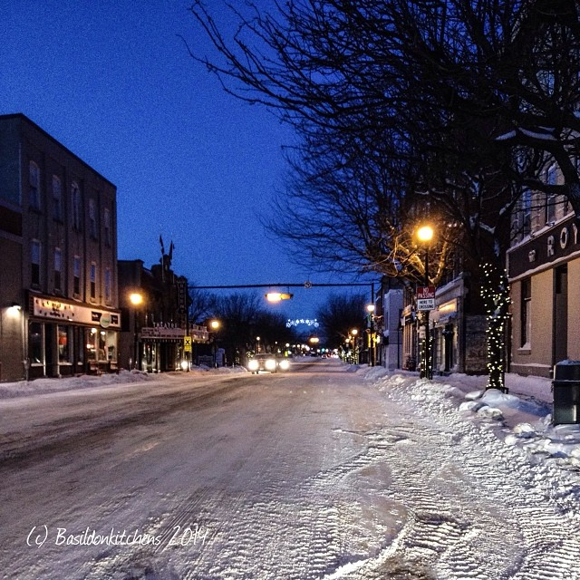 3/1/2014 - my town {Main St, Picton, ON @ 7:00 am -24C (-35C with windchill)  #fmsphotoaday #mytown #picton #princeedwardcounty #winter #cold #snow #early