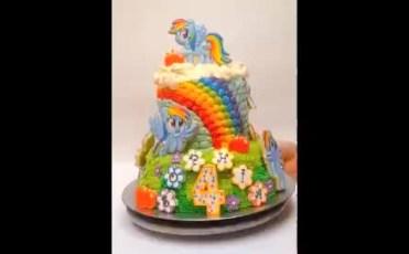 Rainbow Dash Cake 360°
