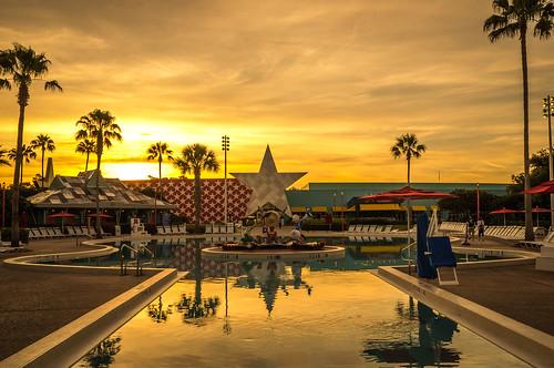 Sunrise at the All Star Music resort