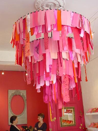 cloth cutout chandelier