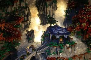 Waterfall Pergola by Night