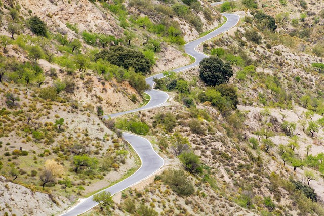 Driving on Twisty Roads in Spain on April 1st