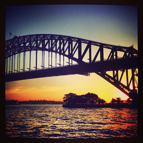 A perfect spot #harbourbridge #sydney #australia #sunset by @MySoDotCom