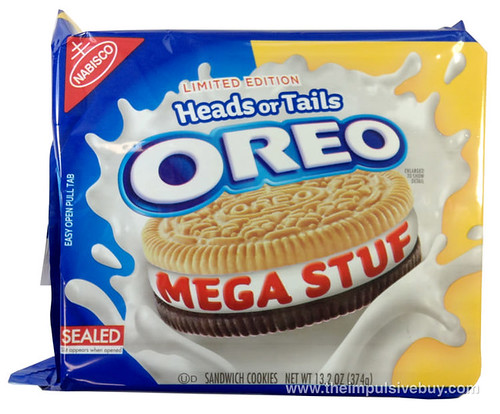 Limited Edition Heads or Tails Mega Stuf Oreo