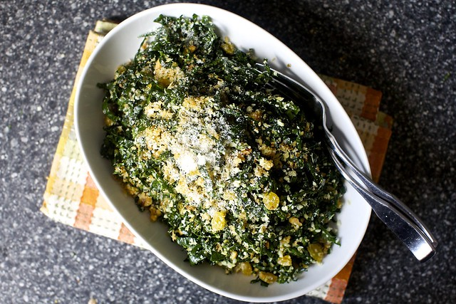 kale salad with walnuts and pecorino