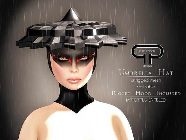 Pure Poison - Couture Umbrella Hat