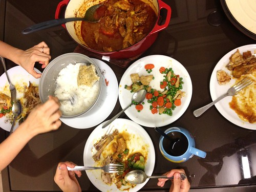 chicken curry dinner for a Vietnamese girl