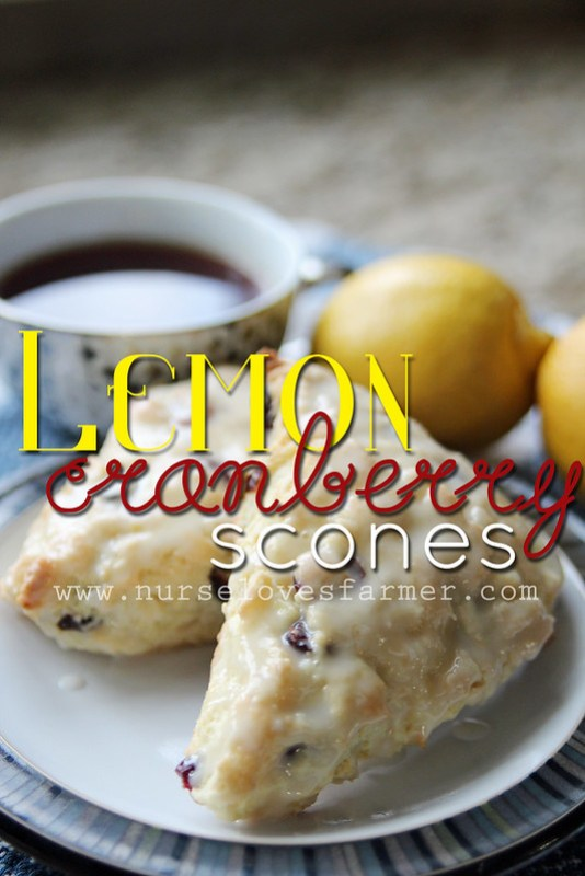 Lemon Cranberry Scones