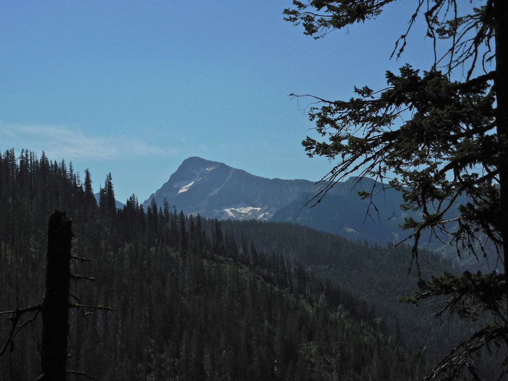 Along trail 966. The patches of snow are on St Paul Peak