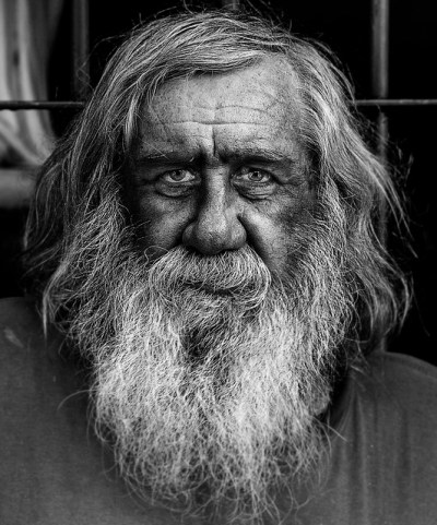 Homeless and forgotten old man in Argentina