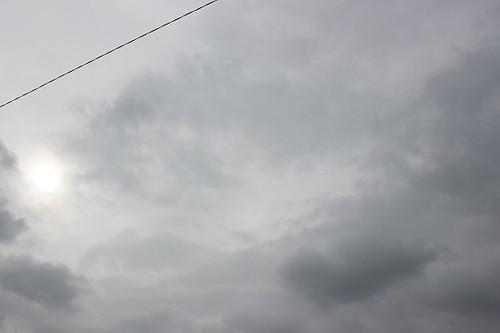 Grey sky and sunshine