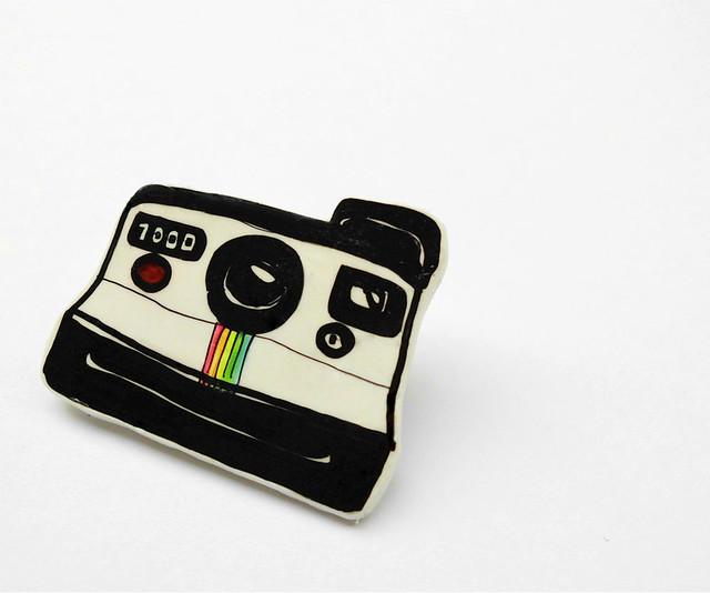 Polaroid plastic brooch 02