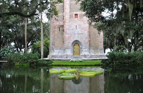 Moat Around the Singing Tower at Bok Tower Gardens, Lake Wales, Fla., Aug. 21, 2013
