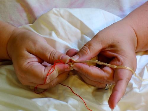 Reaching - Tubing - Feeding onto the Needle by Carmen CS