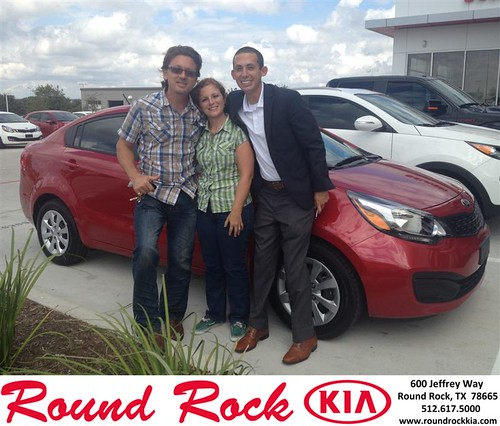 Thank you to Franck Chiron on your new 2013 #Kia #Rio from Derek Martinez and everyone at Round Rock Kia! #NewCarSmell by RoundRockKia