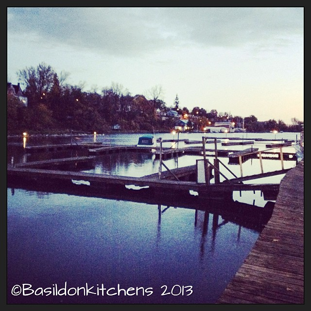 Oct 22 - all alone {this boat is all alone in the marina as they are getting ready for winter} #photoaday #picton #pictonharbour #boats #boat #pier #water #reflection #early