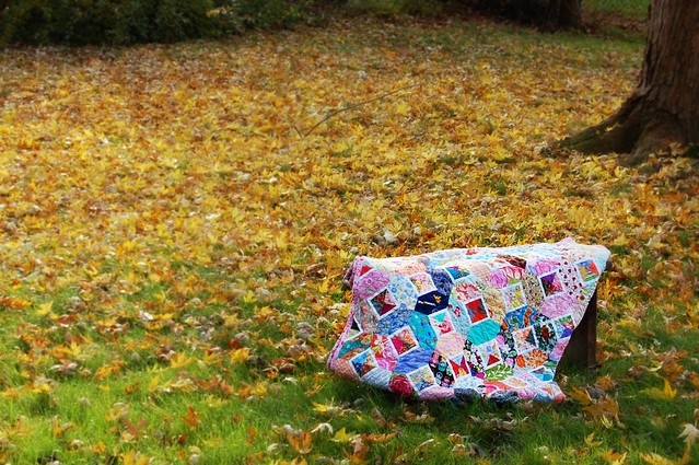 Kaori's Quilt Yellow Leaves