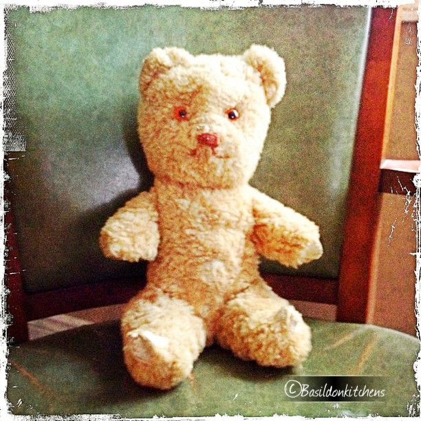 July 8 - oooooo; touch this! {my lamb skin teddy bear} old; worn; patched up; but still cherished! #photoaday #teddybear #soft #old #cherished #childhood #loved