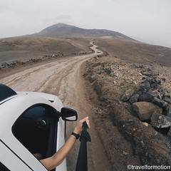 #adventure is #worthwhile #wanderlust #travel #travelgram #gopro #road #lanzarote #españa #guardiantravelsnaps #mountains #landscape #car