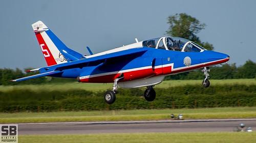 RAF Waddington Patrouille De France Alpha Jets by Simon Batty