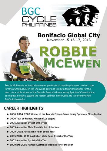BGC Cycle Philippines 2013 Robbie McEwen