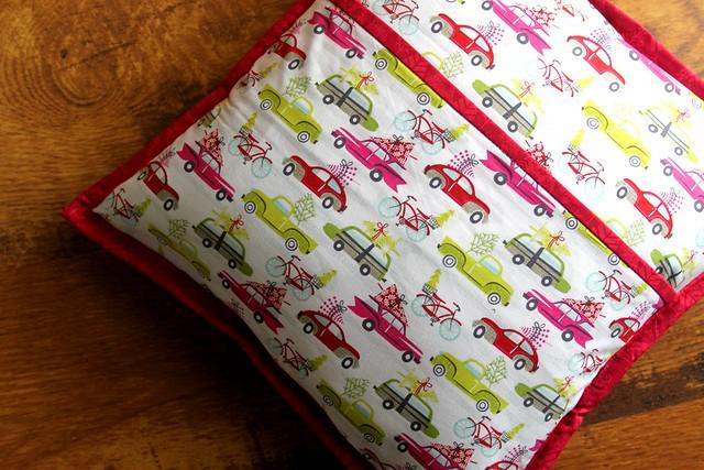 Pillow Back -- Fav Hip Holiday Print