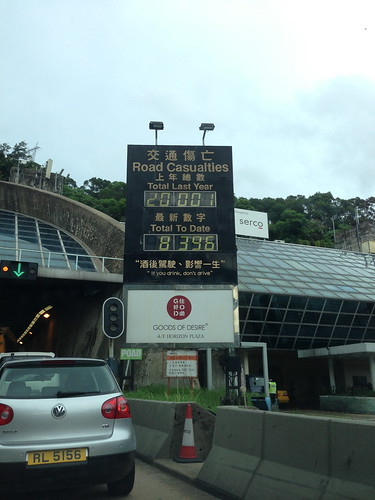 Road toll statistics, Hong Kong