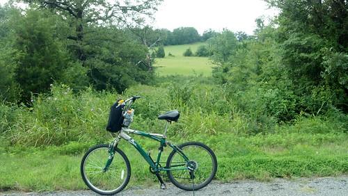 my bike along a arkansas road by under the skies of arkansas