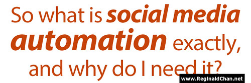What does social media automation means to bloggers?