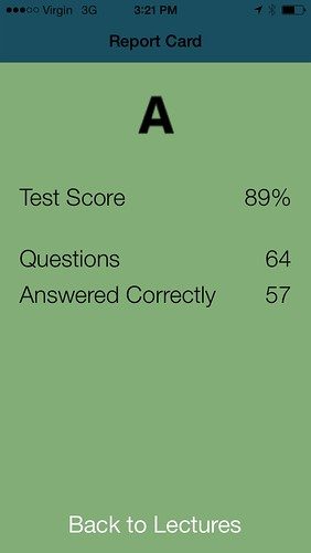 iOS Tutor Report Card