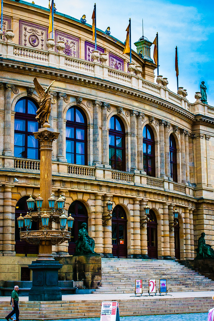 Rudolfinum. Jan Palach Square. Prague