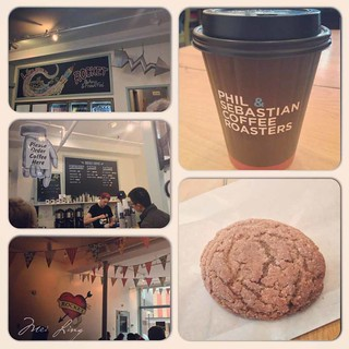 Ginger cookies and lattes at Rocket Bakery