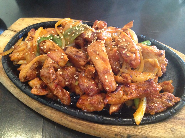 Spicy chicken with ssam - K-pop
