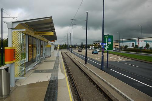 Ashton Moss station (eastbound)